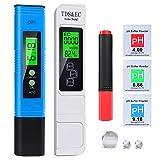 2020 pH Messgerät, pH TDS EC Temperature und BIO Tester 5 in 1 Set, Digital Wasserqualität Tester(ATC) für Trinkwasser/Schwimmbad/Aquarium/Pool, Leitwertmessgerät mit hoher Genauigkeit und LCD Display