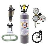 OCOPRO CO2 Anlage Inline DLX-500 Plus Aquarium mit Nachtabschaltung & 2kg Mehrwegflasche (2kg)