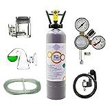 OCOPRO CO2 Anlage DLX-350 Plus Aquarium mit Nachtabschaltung & VOLLE 2kg Mehrwegflasche*