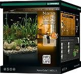 Dennerle Nano Cube Complete+ 60 Liter - Mini Aquarium mit Abgerundeter Frontscheibe - Komplett-Set
