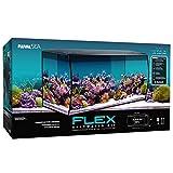 Fluval Flex Marine Aquarium 123L, Meerwasser Aquarium, schwarz