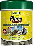 Tetra Pleco Tablets – Nährstoffreiches Fischfutter für alle pflanzenfressenden Bodenfische (z.B. Welse), 275 Tabletten