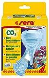 sera 08056 flore CO2 Diffusor oder passiv Reaktor mit integriertem Blasenzähler - maximale CO2-Lösung im edlen Design - für eine CO2 Anlage bis 300 Liter (passend an alle CO2 Anlagen), farblos