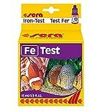 sera 04610 Eisen Test (Fe), Wassertest für ca. 75 Messungen, misst zuverlässig und genau den Eisengehalt, für Süß- & Meerwasser, im Aquarium oder Teich, 4610