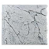 Back to Nature White Limestone 50 Slimline Rückwand H: 45 cm Größe Modul 50A (B50xH45cm)