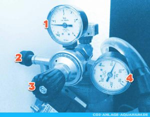 Der Aufbau des CO2-Druckminderers