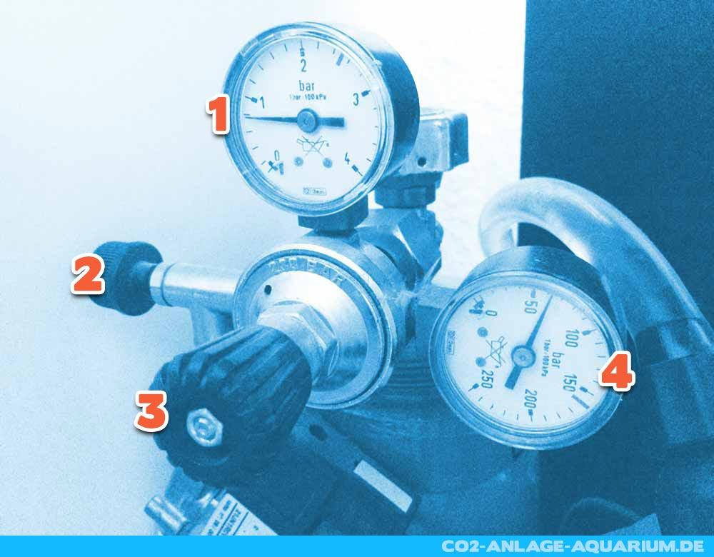Der Aufbau des CO2 Druckminderers