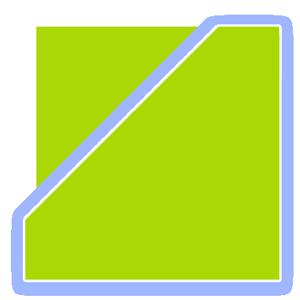 Eckaquarium-Delta-Grundform