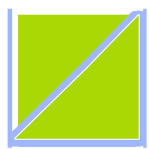 Eckaquarium-Grundform