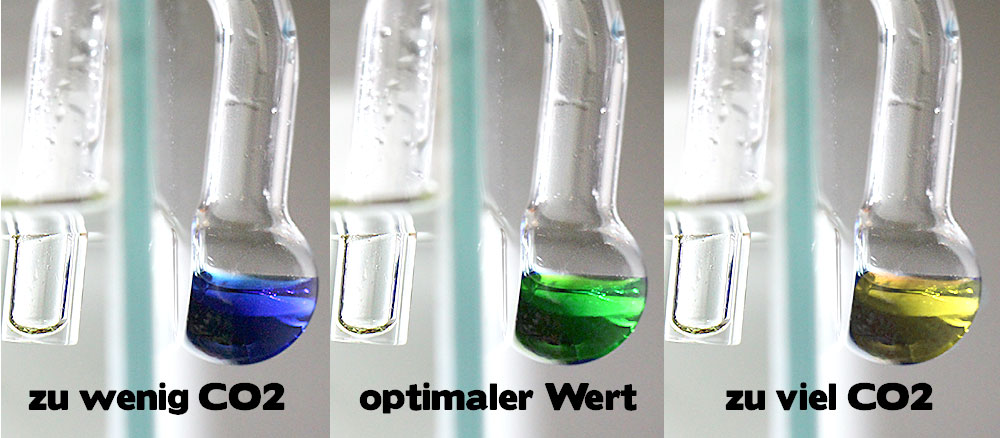 CO2-Dauertest Farbskala