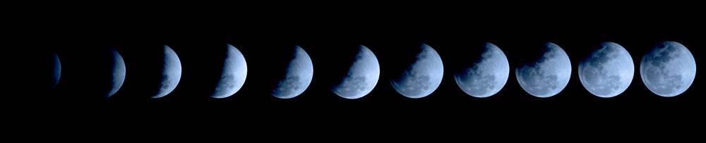 Mondlicht im Aquarium mit Mondphasen