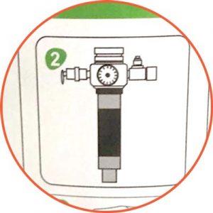 Sicher gegen Überschäumen durch Filter vor dem Druckminderer